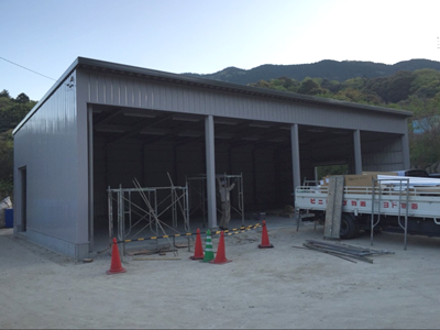 倉庫作りの工程